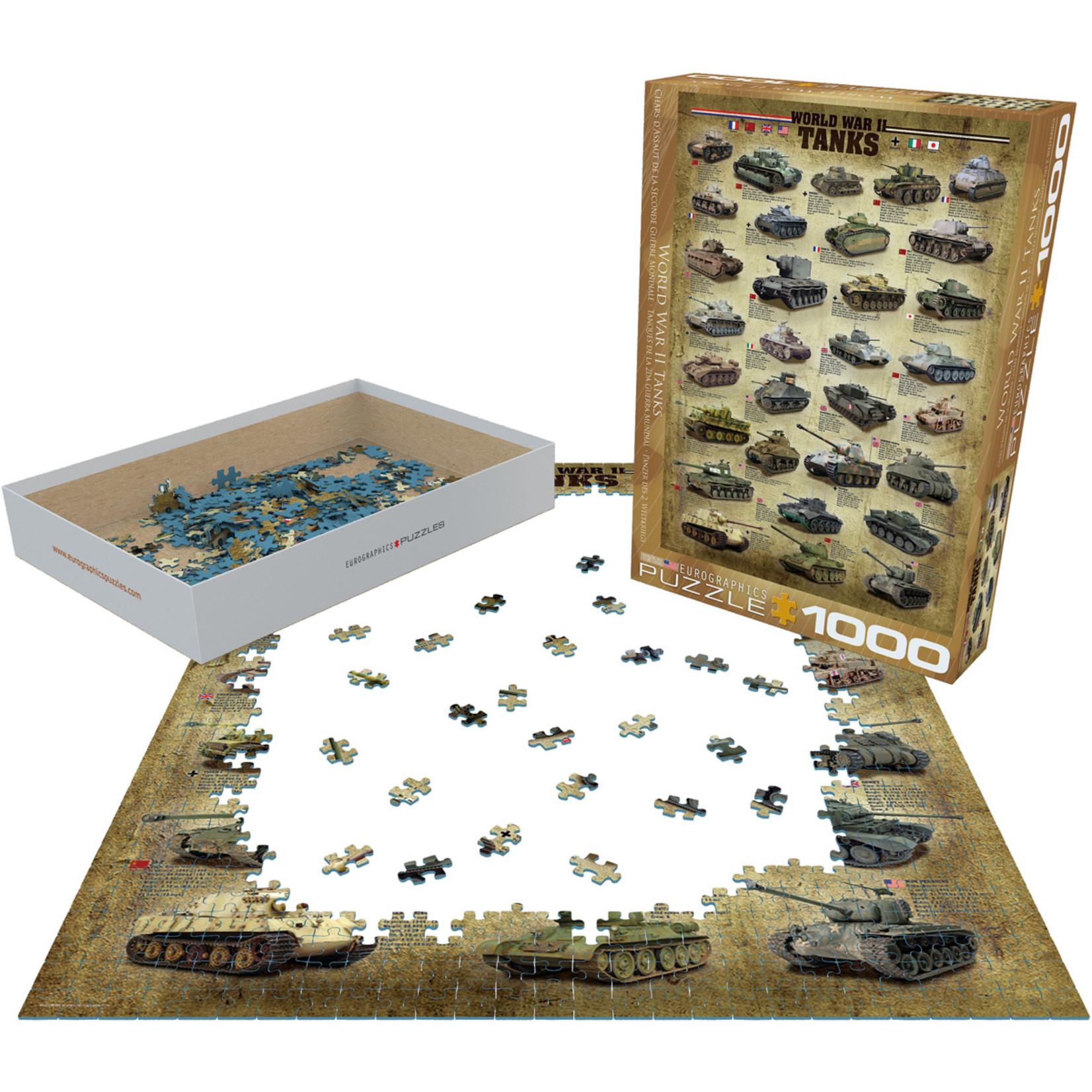 EuroGraphics Puzzles World War II Tanks 1000pc