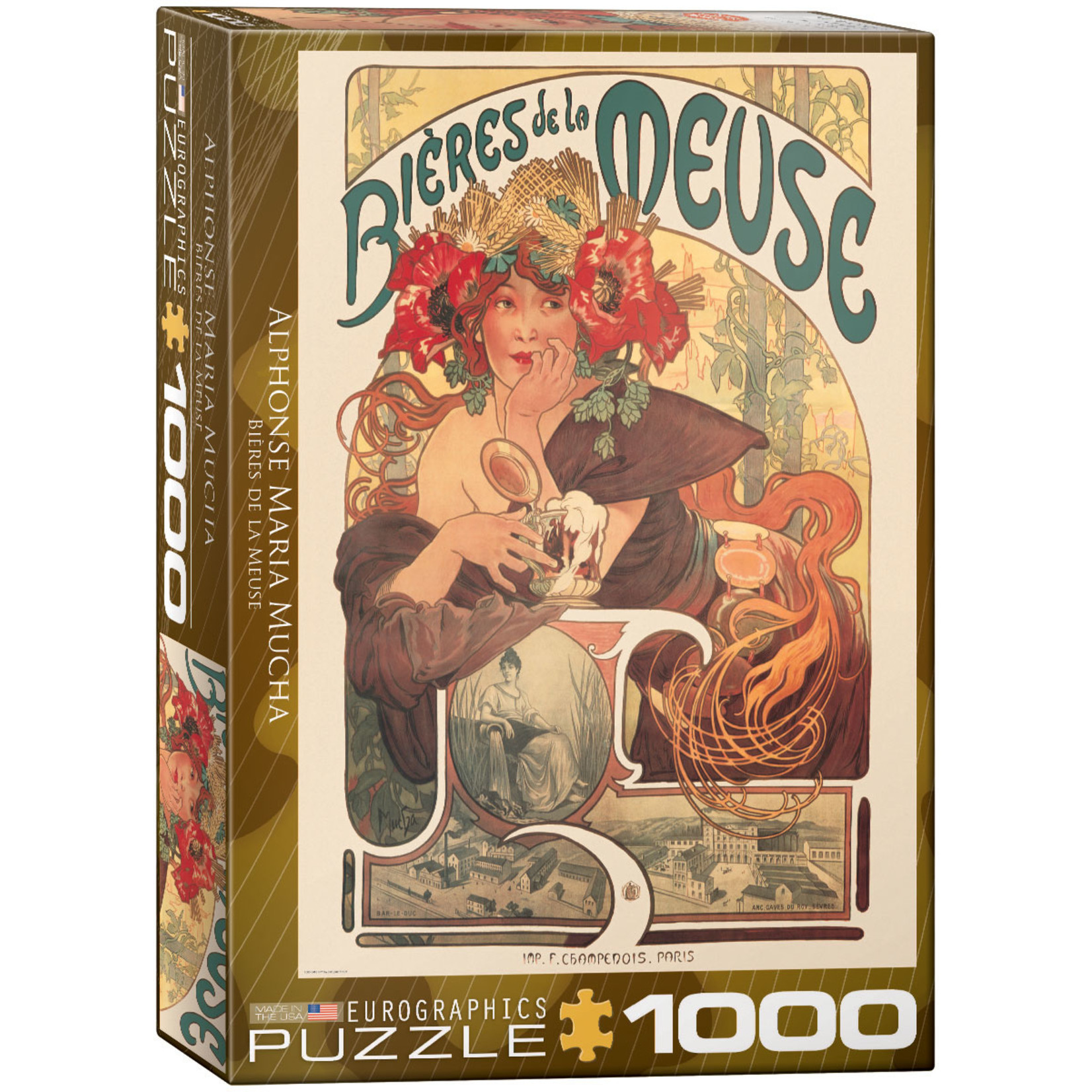 EuroGraphics Puzzles Bieres de la Meuse - Mucha 1000pc