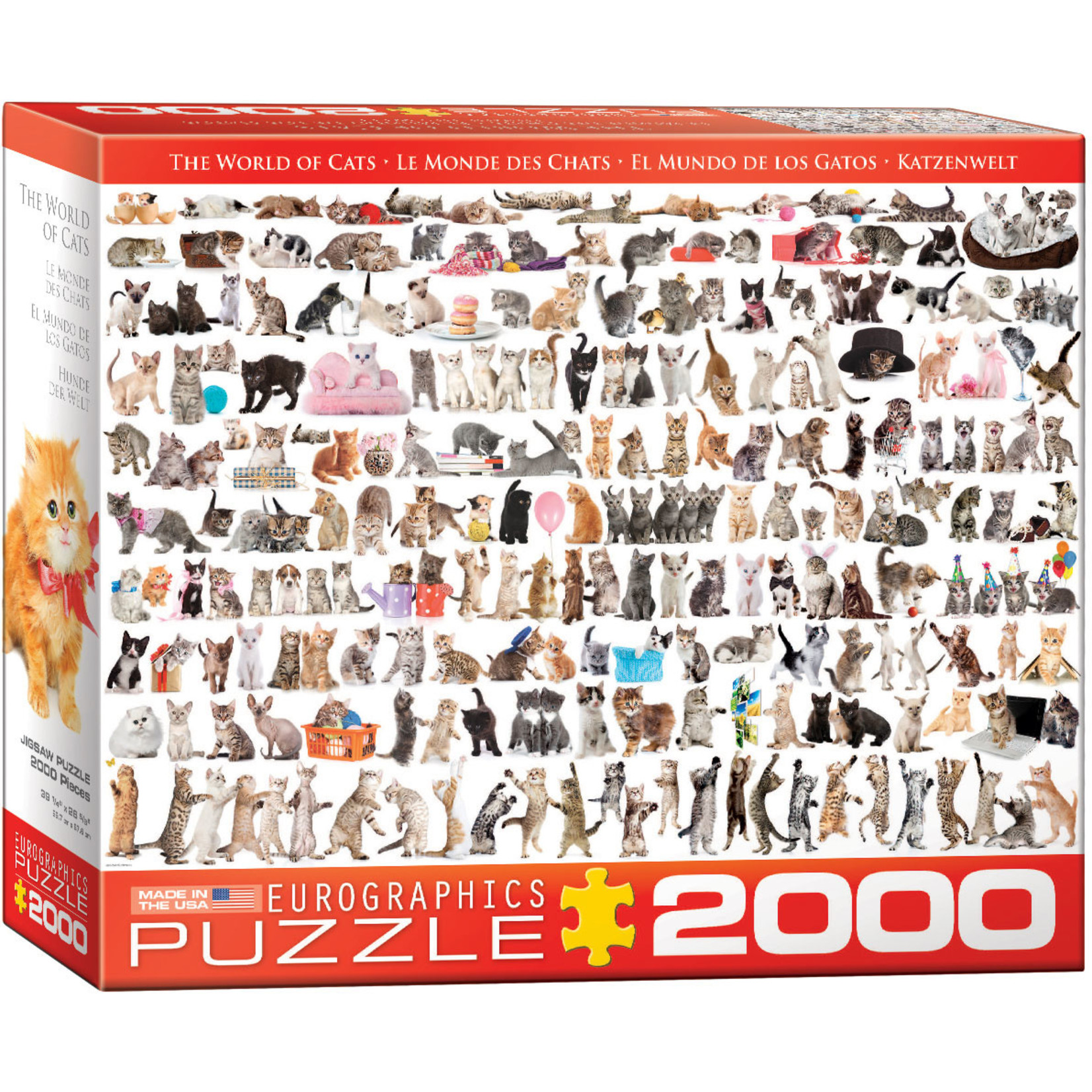 EuroGraphics Puzzles The World of Cats 2000pc