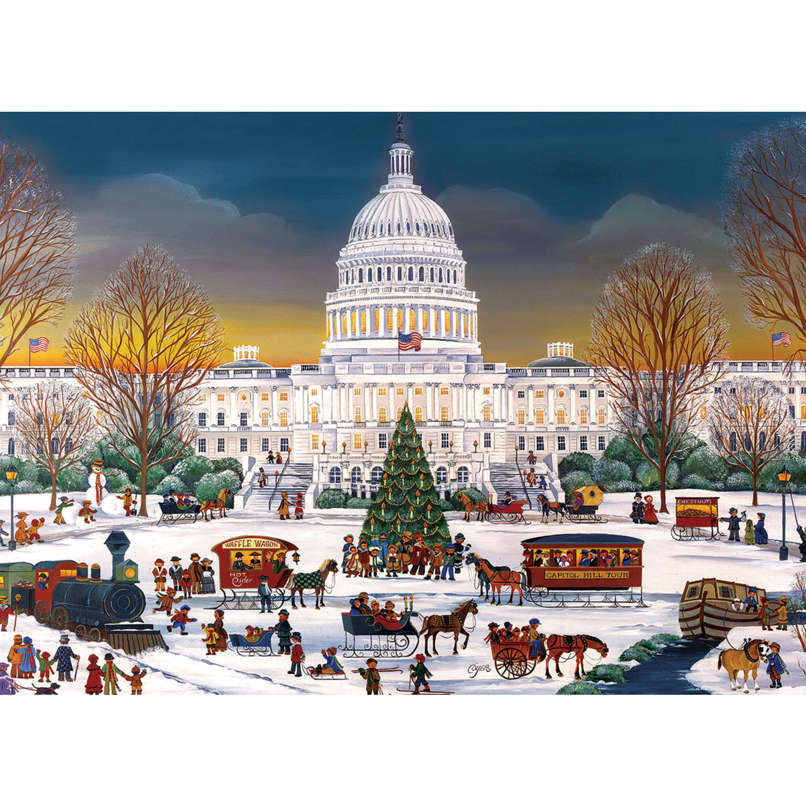 EuroGraphics Puzzles Christmas at the Capitol (300pc)