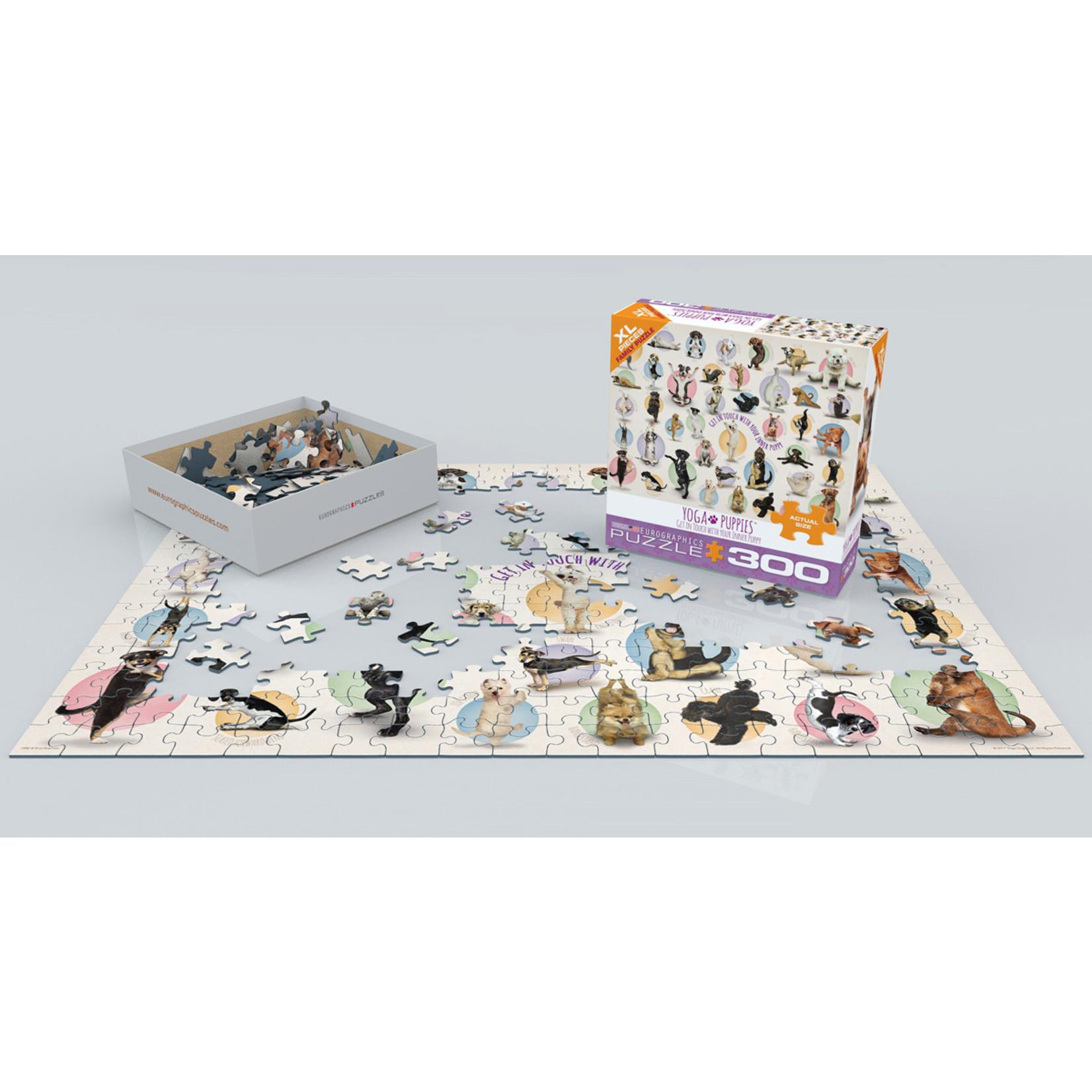EuroGraphics Puzzles Yoga Puppies 300pc