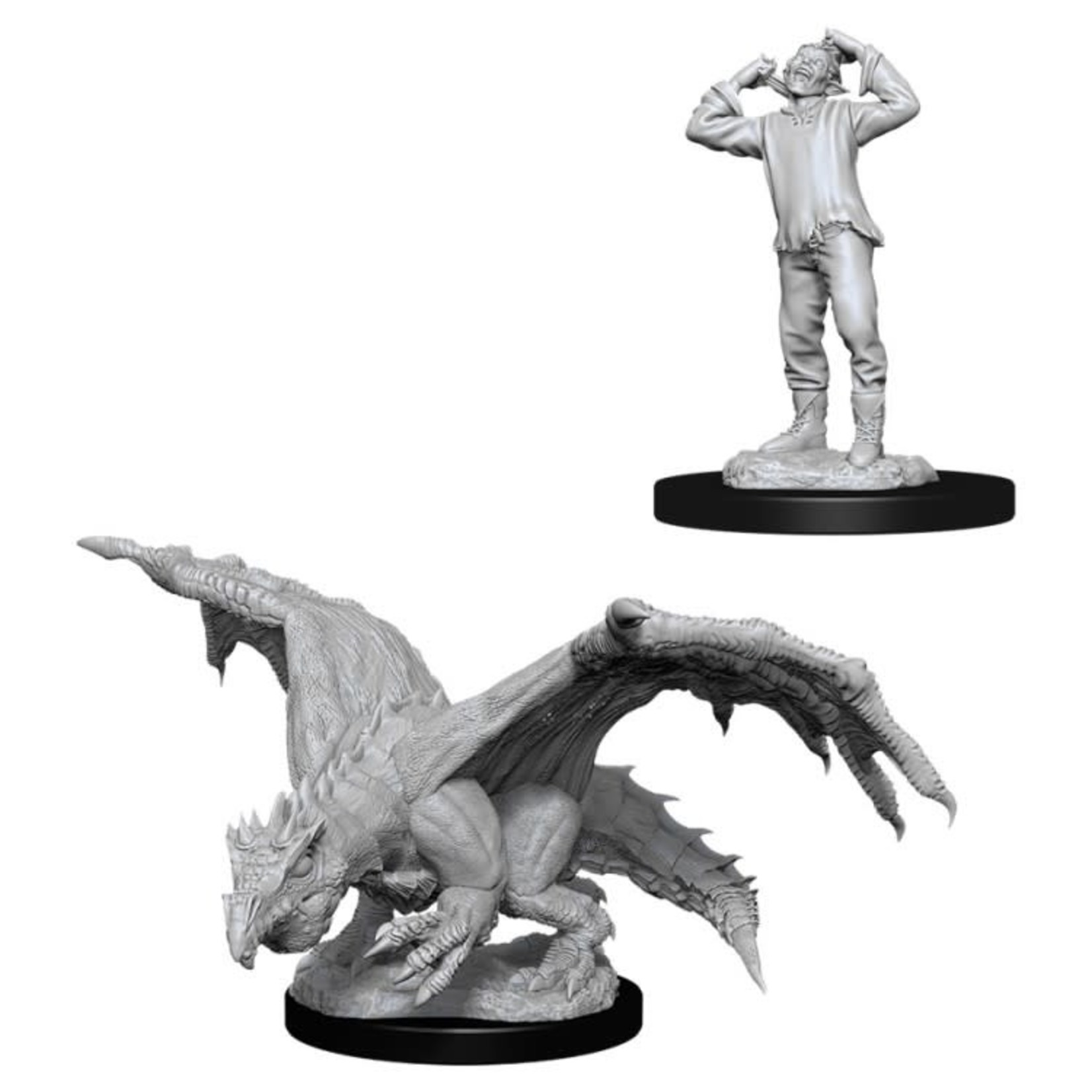 WizKids/Neca 90029 Nolzur's Green Dragon Wyrmling & Afflicted Elf