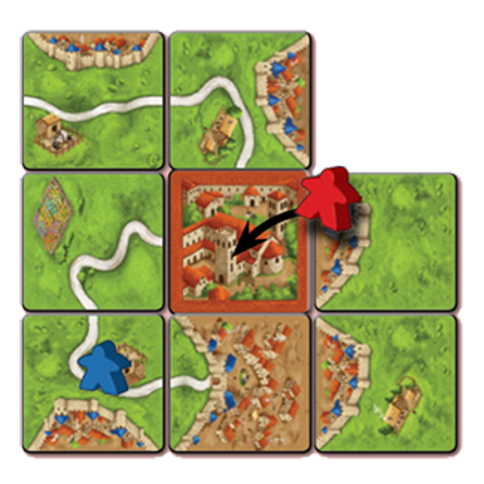 Z-Man Games Carcassonne Exp: Abbey and Mayor