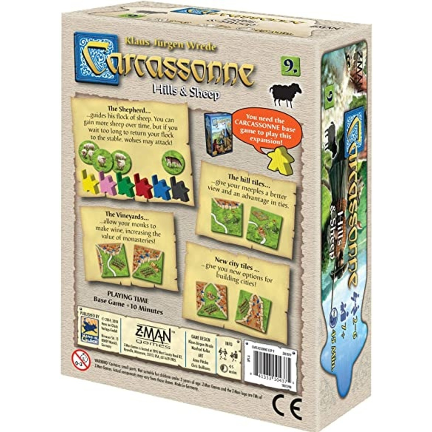 Z-Man Games Carcassonne: Hills and Sheep