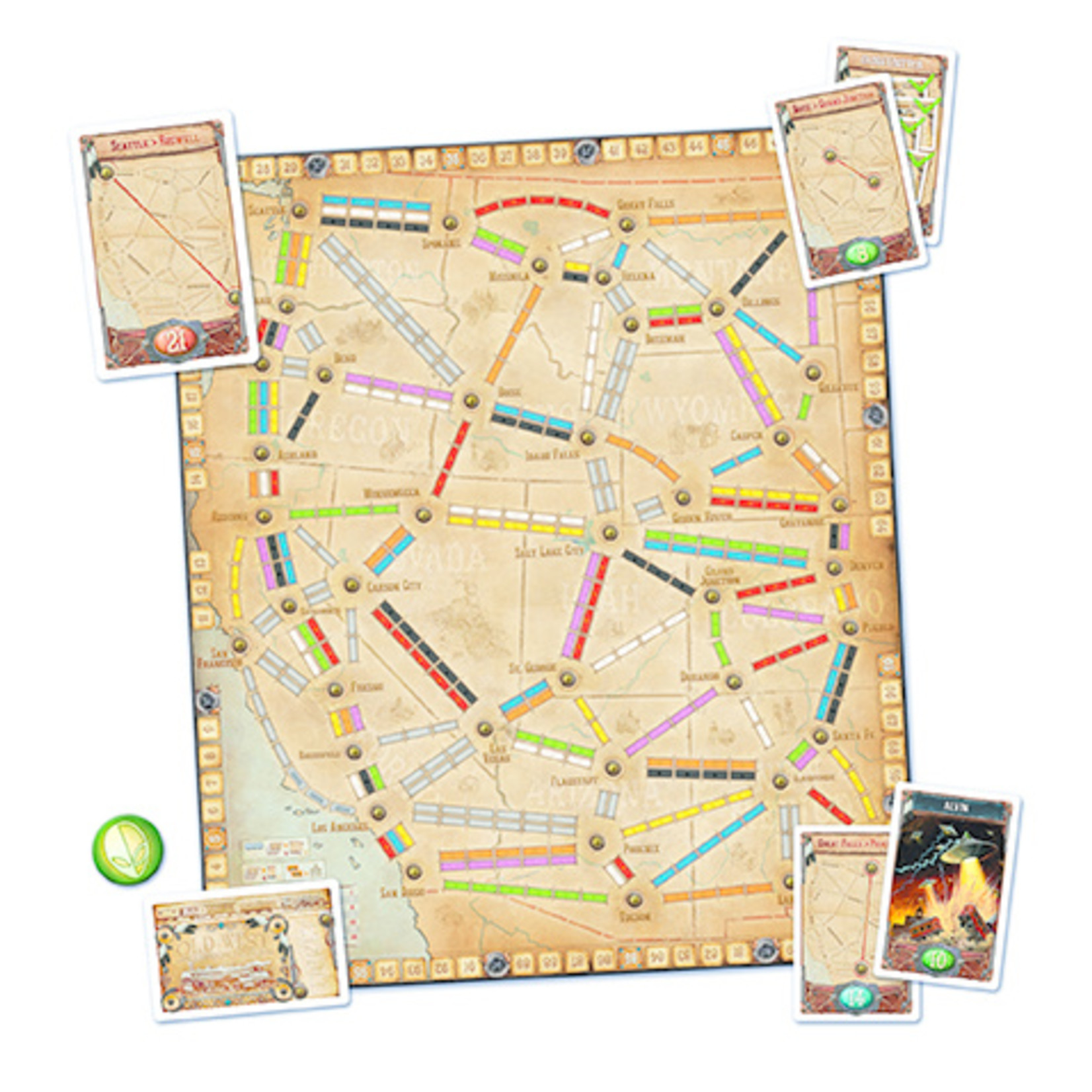 Days of Wonder Ticket toRide: France and Old West Map Collection V6