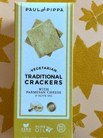 Paul & Pippa Crackers with Parmesan Cheese and Olive Oil