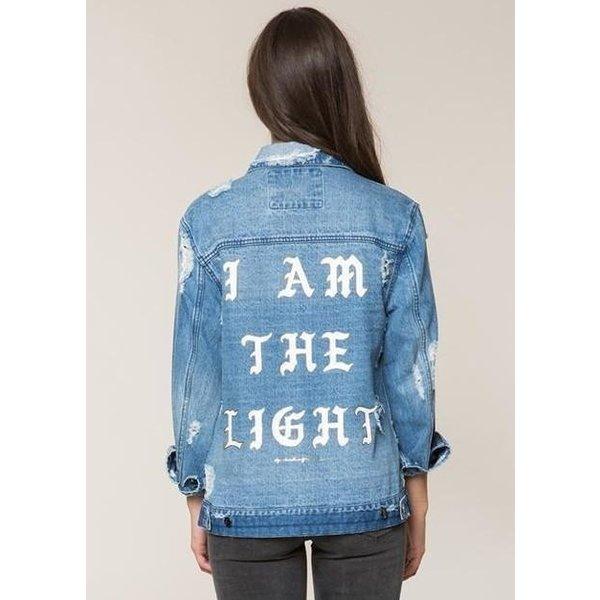 Spiritual Gangster Spiritual Gangster I Am The Light Denim Jacket