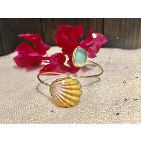 caitlin Caitlin Sunny/Seaglass Bracelet 18k gold