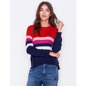 Sundry Sundry Stripes Crew Sweater