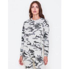 Sundry Sundry Camo Crop Sweatshirt