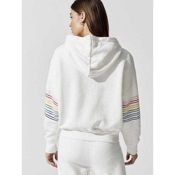 Sundry Sundry Rainbow Stripe Hoodie