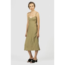 The Wolf Gang The Wolf Gang Los Besos Linen Midi Dress