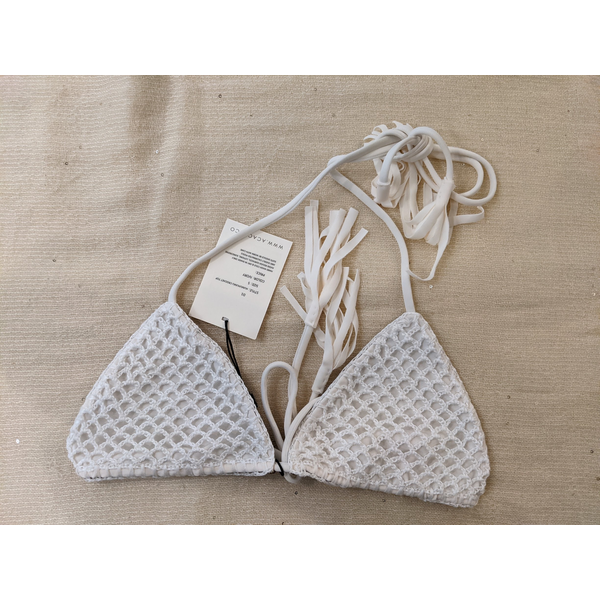 acacia Acacia Humuhumu Crochet Triangle Top - P-36565
