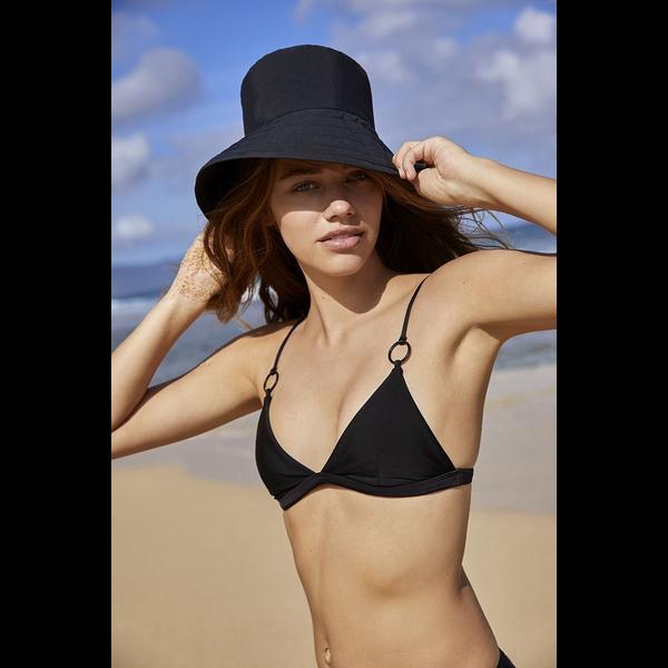 Mikoh Swimwear Mikoh Ponzu Top Matte Black Ring Detail Tri