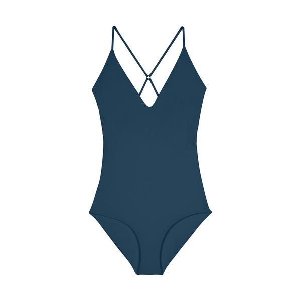 Mikoh Swimwear Mikoh 1PC Las Palmas Fuller Coverage Cross Detailed Back