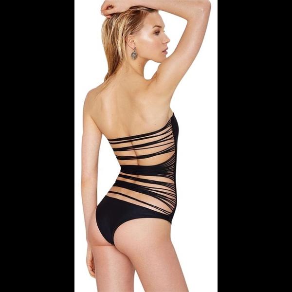 Mikoh Swimwear Mikoh Santorini Strapless One Piece w/ multi string back