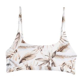 Mikoh Swimwear Mikoh Portola String Scoop Top w/ Band Detail