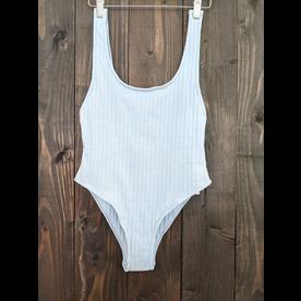 Mikoh Swimwear Mikoh Yumi Ribbed Simple Strap Extra High Long Leg 1PC