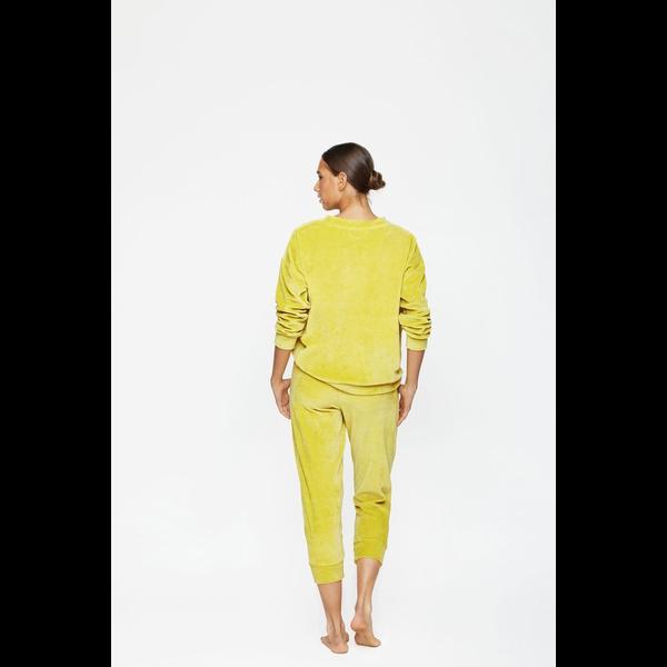 Mikoh Swimwear Mikoh Kimo Velour Crew Neck Paneled Sweatshirt