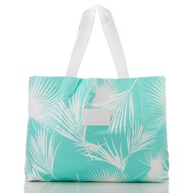 Aloha Collection Aloha Collection Day Palms Holo Holo Tote White/Pool