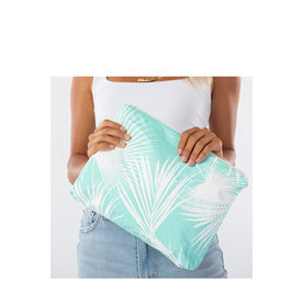 Aloha Collection Aloha Collection Mid Day Palms White/Pool Pouch