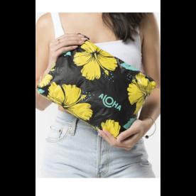 Aloha Collection Aloha Collection Mid Hibiscus Canary/Black