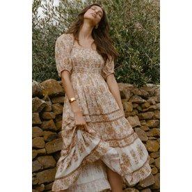 Spell Designs Spell Juniper Shirred Dress