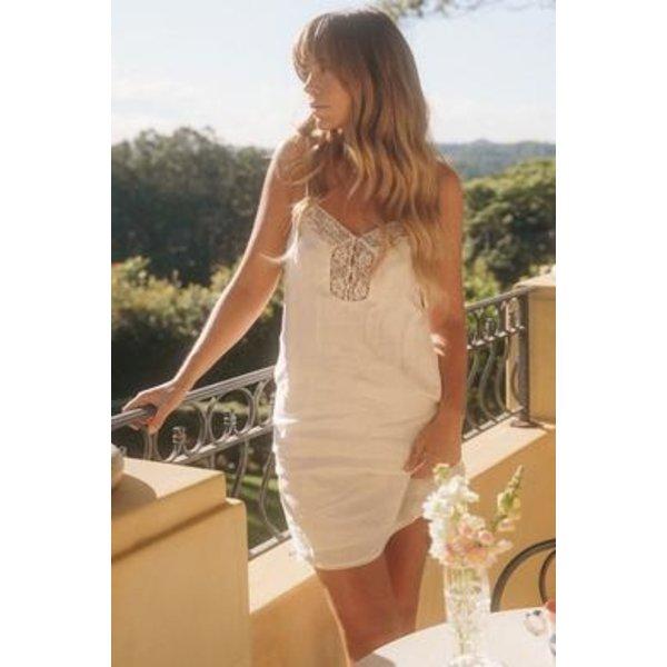 Spell Designs Spell Basic Linen Slip Dress