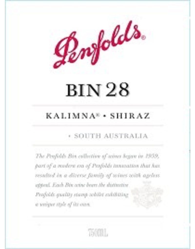 Shiraz Australia Penfolds Bin 28 Kalimna Shiraz 2018 750ml