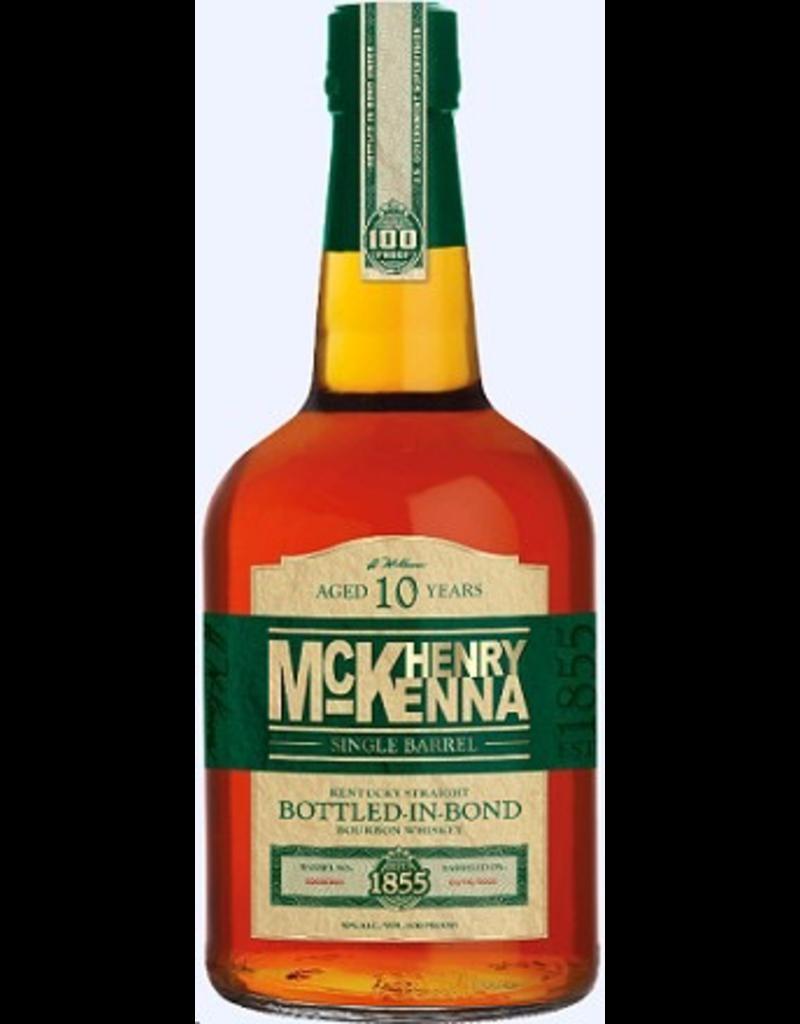 Bourbon Whiskey Henry McKenna 10yr Single Barrel Bottled-in-Bond 100pf 750ml