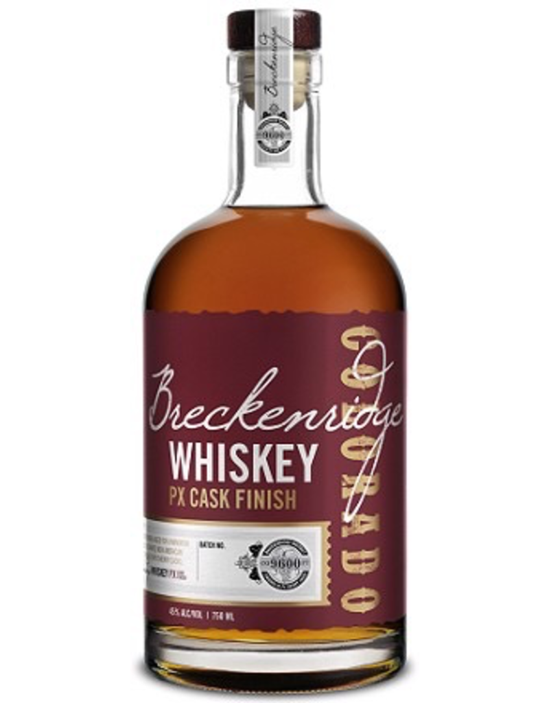 Bourbon Whiskey Breckenridge Bourbon PX Sherry Cask Finish 90° 750ml Colorado 750ml