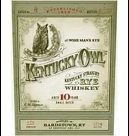 Rye Whiskey Kentucky Owl 10 Year Old Rye Batch #4 Last Rye Batch