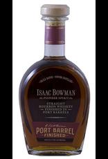 Bourbon Whiskey Isaac Bowman Pioneer Spirit Port Barrel Finished Straight Bourbon Whiskey 750ml