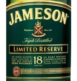 Irish Whiskey Jameson 18yr Old Limited Reserve Irish Whiskey 750ml