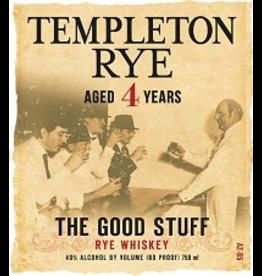 American Rye Whiskey Templeton Rye Rye Whiskey 4 Year The Good Stuff 750ml Iowa