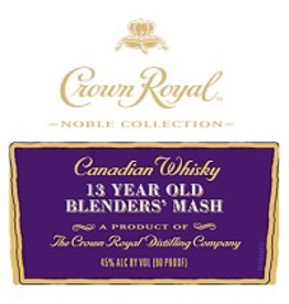 Canadian Whisky Crown Royal Canadian Whisky Noble Collection 13 Year Blenders' Mash 750ml #5 Whiskey of the Year 2018