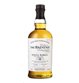 Single Malt Scotch The Balvenie Scotch Single Malt 12 Year Single Barrel First Fill 750ml