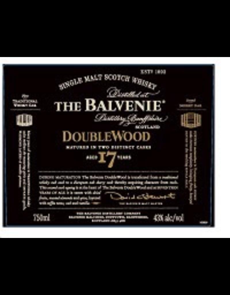 Single Malt Scotch The Balvenie Scotch Single Malt 17 Year Doublewood  750ml