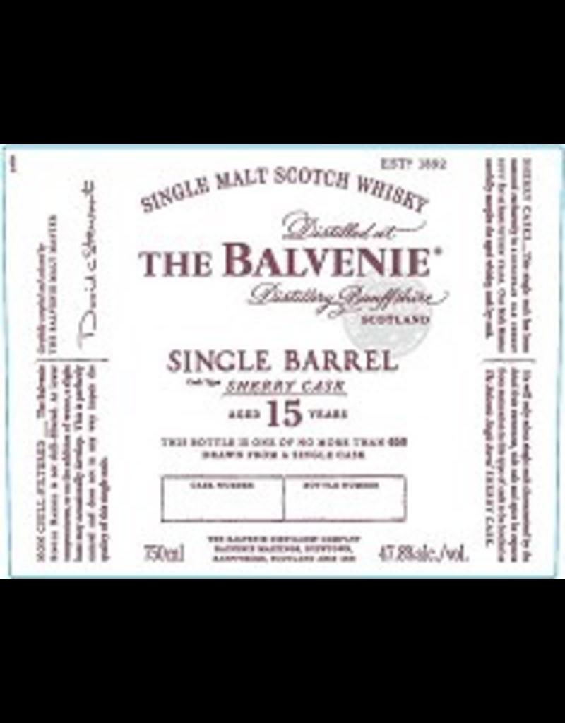 Single Malt Scotch The Balvenie Scotch Single Malt 15 Year Sherry Cask 750ml