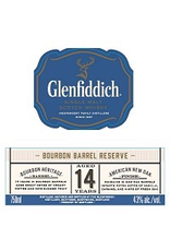 Single Malt Scotch Glenfiddich 14 yr old Single Malt Scotch Bourbon Barrel Reserve 750ml