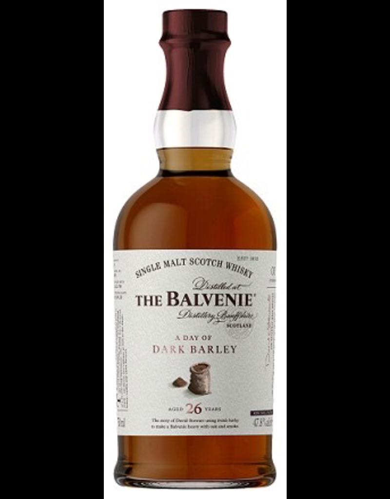 Single Malt Scotch The Balvenie Scotch Single Malt  26 Year Day Of Dark Barley 750ml