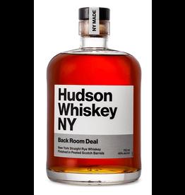 American Rye Whiskey Hudson Whiskey NY Back Room Deal Straight Rye Whiskey Peeted Scotch Barrel Finished 750ml