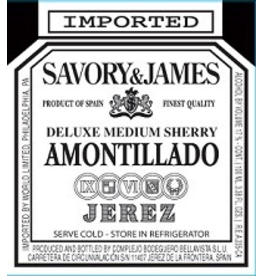 Sherry Savory & James Amontillado Medium Dry Sherry 750ml