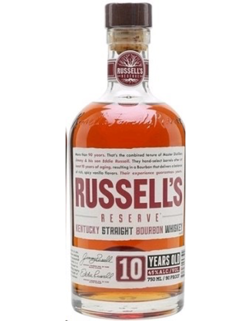 Bourbon Whiskey Russell's Reserve Bourbon 10 Year 750ml