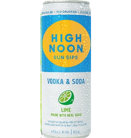 CAN MIXED DRINK High Noon Sun Sips Vodka & Soda Lime 4pack 355ml cans