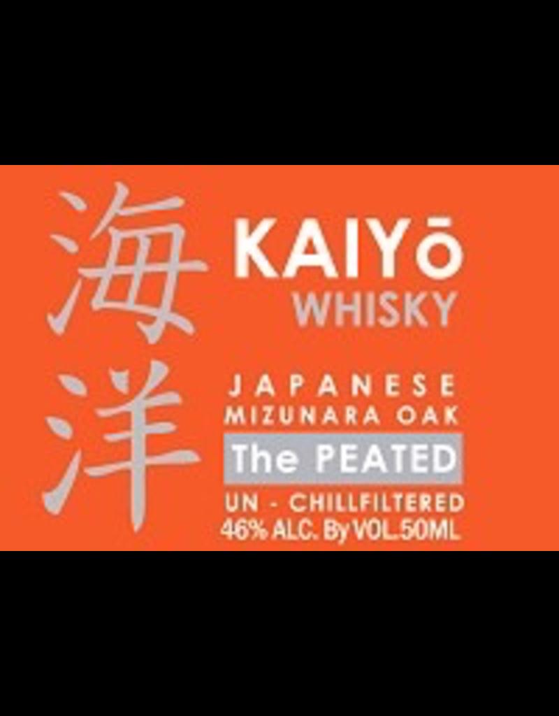 Japanese Whisky Kaiyo Whisky Japanese Mizunara Oak The Peated un-chillfiltered 92 proof 750ml