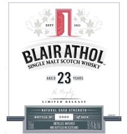 Single Malt Scotch Blair Athol 23yr Limited Release Highlands Single Malt Scotch Whisky 750ml