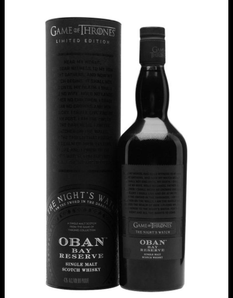 Single Malt Scotch Oban Game of Thrones The Night's Watch Bay Reserve Single Malt Scotch Whisky 750ml