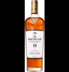 Single Malt Scotch Macallan18 year old Sherry Oak Cask Single Malt Scotch 2021 release 750ml