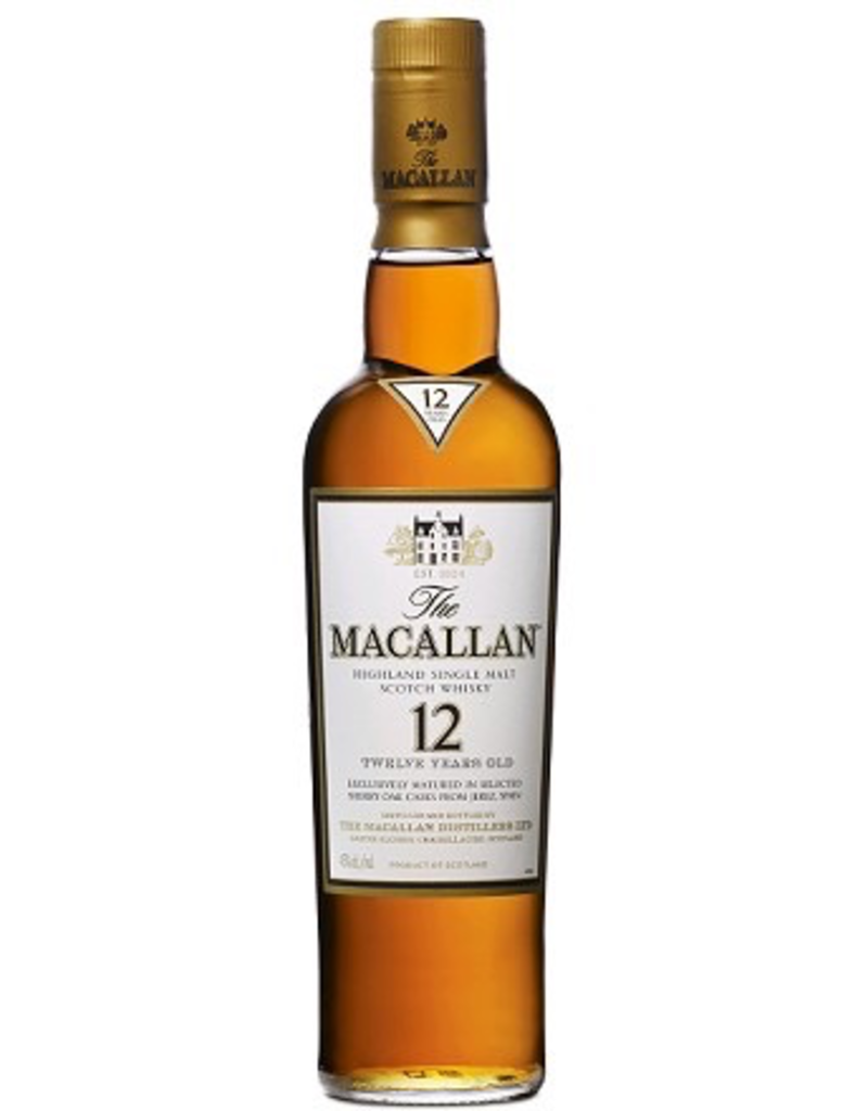 Single Malt Scotch Macallan 12yr Highland Single Malt Scotch Sherry Oak Cask  750ml